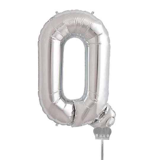 Μπαλονι 40 εκ Ασημί Γράμμα Q