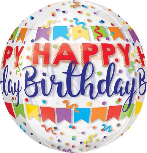 Μπαλόνι Happy Birthday banner ORBZ 40 εκ