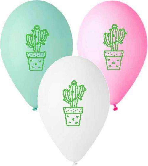 """12"""" Μπαλόνι τυπωμένο πράσινος κάκτος"""