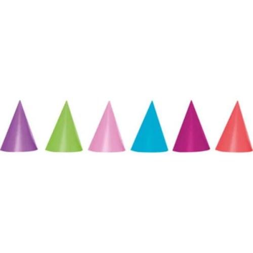 Καπελάκια χάρτινα σε διάφορα χρώματα (6 τεμ)