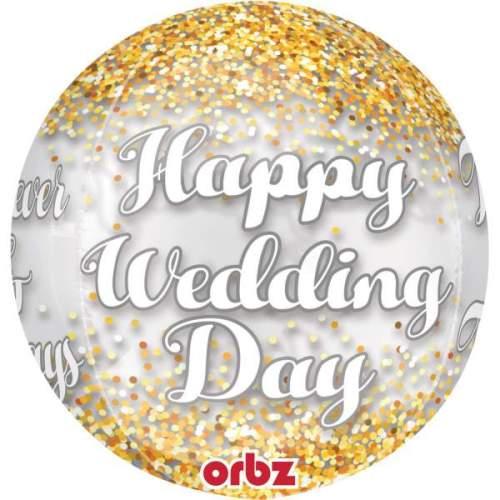 Μπαλόνι Happy wedding Day ORBZ 40 εκ