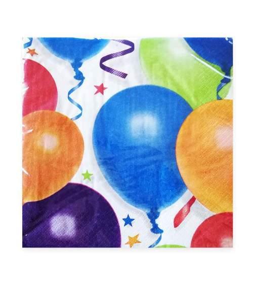 Χαρτοπετσέτες μικρές με μπαλόνια και αστέρια (16 τεμ)
