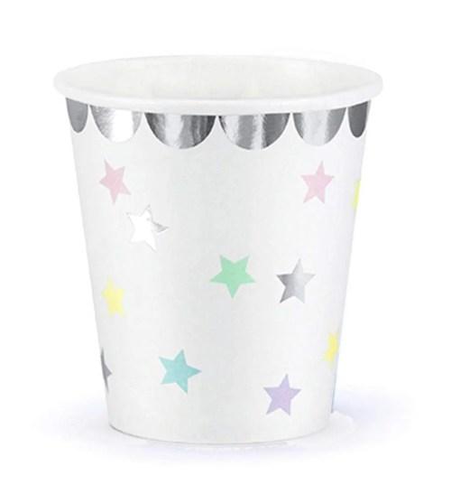 Ποτήρια πάρτυ χάρτινα με αστεράκια (6 τεμ)