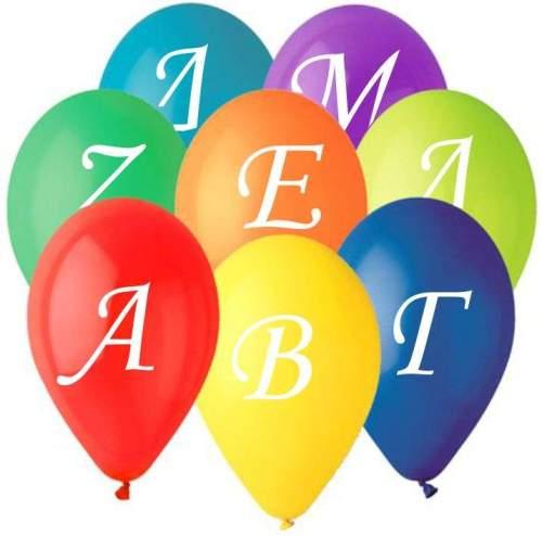 """12"""" Μπαλόνια Ελληνική Αλφαβήτα (24 τεμ)"""