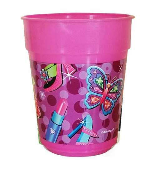 Ποτήρι πάρτυ πλαστικό glamour girl (1 τεμ)