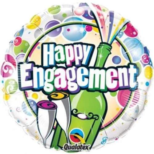 Μπαλόνι Happy Engagement Σαμπάνια