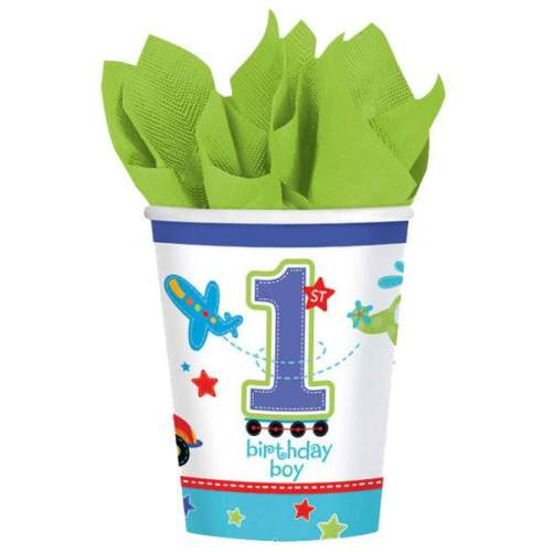 Ποτήρια πάρτυ 1st Birthday Boy (8 τεμ)