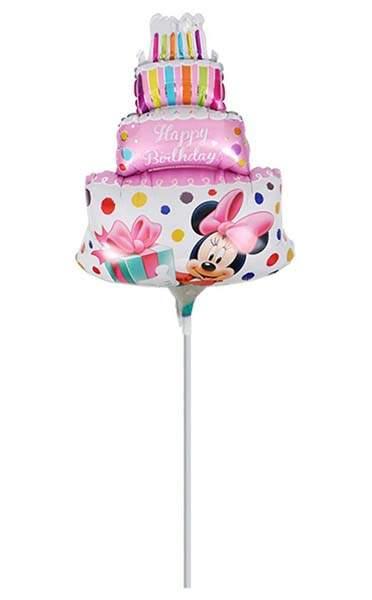 Μικρό μπαλονάκι με καλαμάκι Mickey & Minnie Ροζ τούρτα