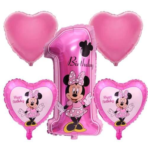 Σετ μπαλονιών 1st Birthday Minnie Mouse (5 τεμ)