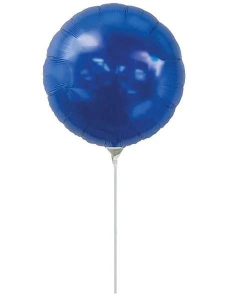 Μπαλονάκι μπλε στρογγυλό μαζί με καλαμάκι