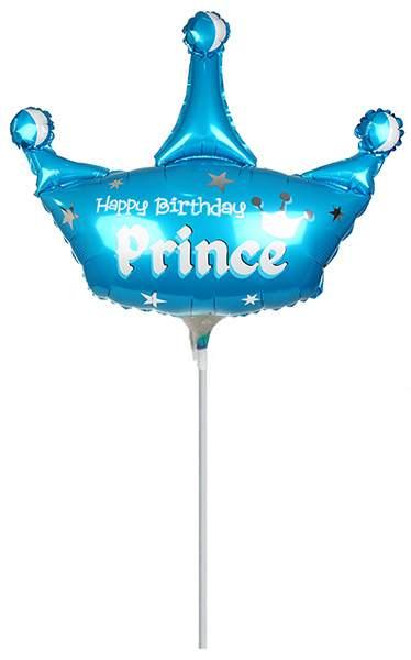Μπαλονάκι Happy Birthday Prince μαζί με καλαμάκι