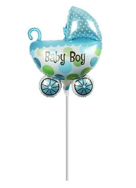 Μπαλονάκι καροτσάκι Its a Boy μαζί με καλαμάκι