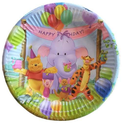 Πιάτα πάρτυ μεγάλα Winnie the pooh (10 τεμ)