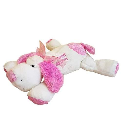 Λούτρινο ροζ σκυλάκι ''Με αγάπη για σένα''