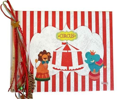 Χειροποίητο Βιβλίο Ευχών βάπτισης Circus
