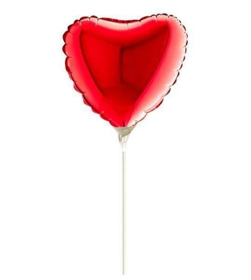Μπαλονάκι κόκκινη μικρή καρδούλα μαζί με καλαμάκι