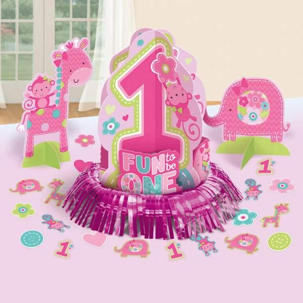 Σετ διακόσμησης τραπεζιού 1st Birthday girl (23 τεμ)