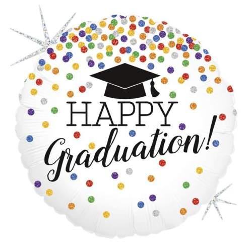 Μπαλόνι αποφοίτησης Happy Graduation γκλίτερ 45 εκ
