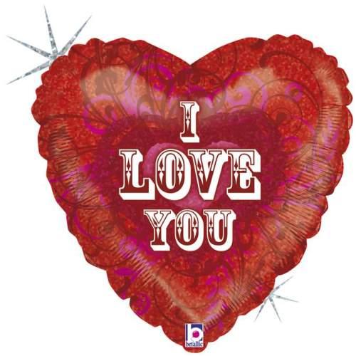 Μπαλόνι αγάπης Καρδιά 'I Love You' κέντημα 46 εκ