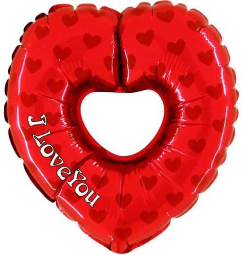 Μπαλόνι αγάπης Καρδιά 1 μέτρου με τρύπα