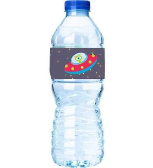 Χάρτινες διακοσμητικές ετικέτες νερού Διάστημα (8 τεμ)