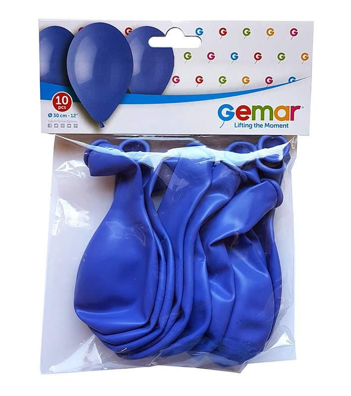"""12"""" Μπλε λάτεξ μπαλόνια (10 τεμ)"""