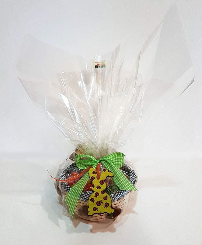 Πασχαλινό καλαθάκι γεμισμένο με σοκολατάκια & ζαχαρωτά (σχέδιο 3)