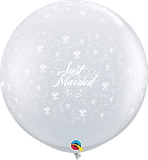 Τεράστιο μπαλόνι τυπωμένο 'Just Married' διάφανο