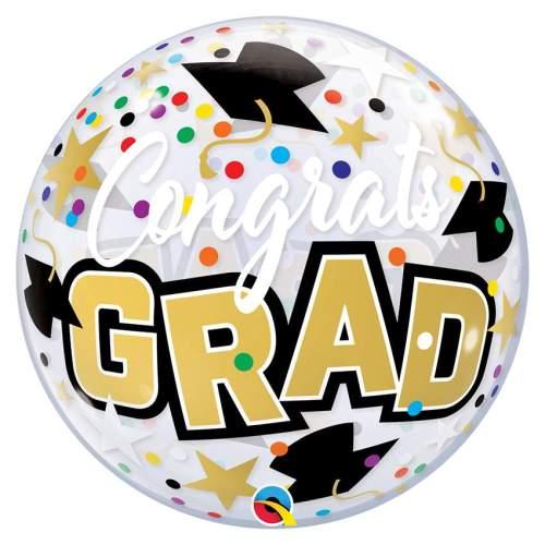 """Μπαλόνι bubble """"Congrats Grad"""""""