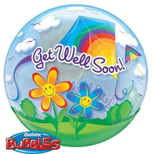 """Μπαλόνι """"Get well"""" χαρταετοί bubble 56 εκ"""