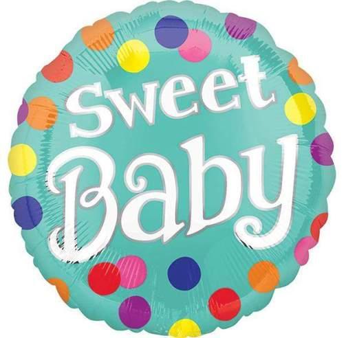 Μπαλόνι Sweet Baby πουά