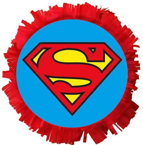 Χειροποίητη μεγάλη Πινιάτα πάρτυ Superman