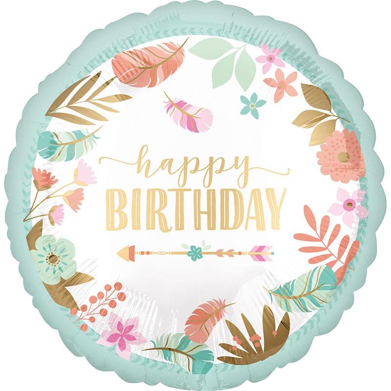Μπαλόνι για γενέθλια Boho Girl Happy Birthday