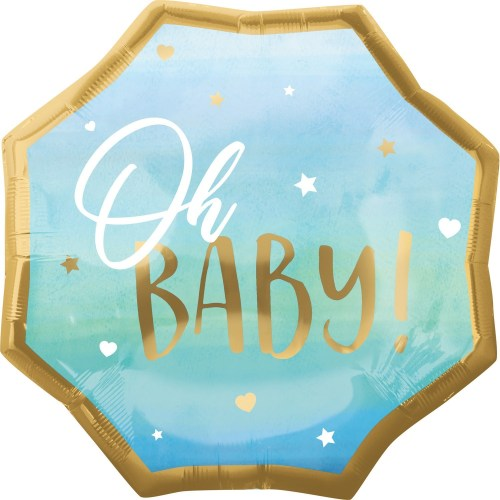 Μπαλόνι γέννησης Oh Baby γαλάζιο 55 εκ