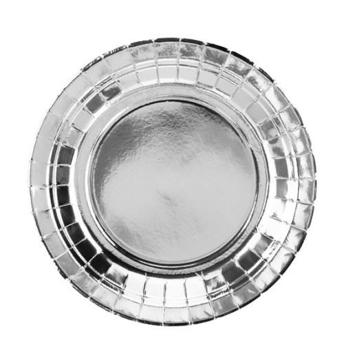 Πιάτα πάρτυ μικρά ασημί (6 τεμ)