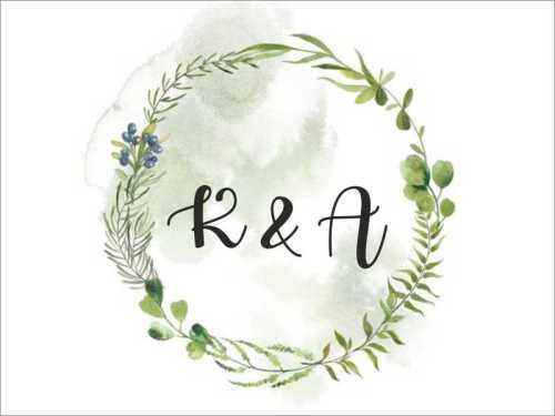 Ευχαριστήριο καρτελάκι γάμου Στεφάνι ελιάς