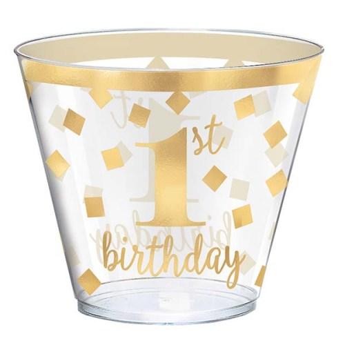 Ποτήρια πάρτυ 1st birthday (30 τεμ)