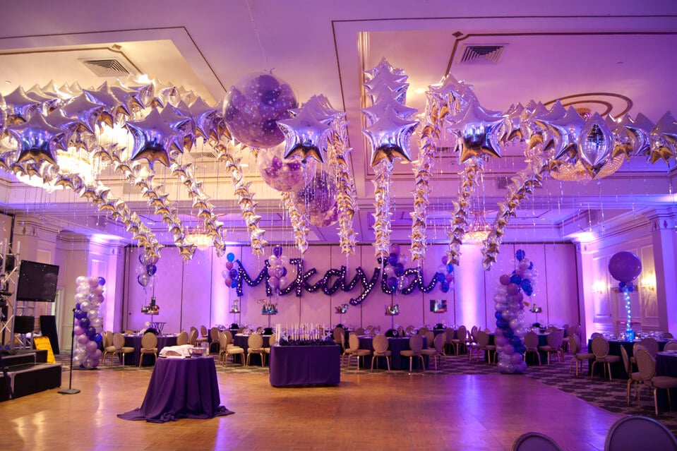 Navy Blue And Silver Centerpieces