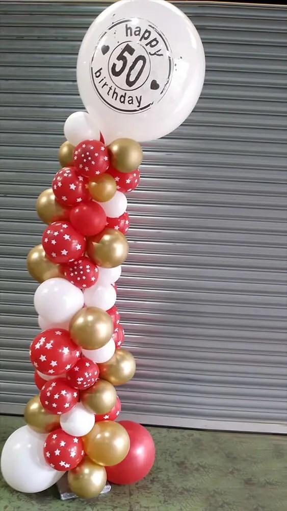 Organische ballon pilaar - The Balloon Factory