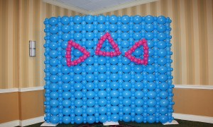 Balloon Wall for Sorority Bid Day, by Balloonopolis, Columbia, SC