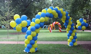 Balloon arches on sorority Bid Day, by Balloonopolis, Columbia, Sc