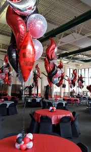 Smokin' Hot Centerpieces, by Balloonopolis, Columbia, SC