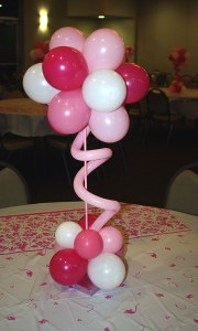 Birthday Party Pink Centerpiece, by Balloonopolis, Columbia, SC