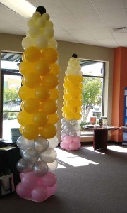 Back-to-School Pencil Balloon Columns, by Balloonopolis, Columbia, Sc