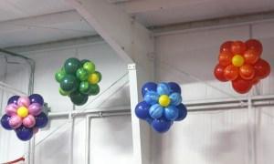 Hanging balloon flowers, by Balloonopolis, Columbia, SC