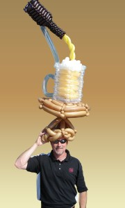 Balloon Beer Hat, by Balloonopolis, Columbia, South Carolina