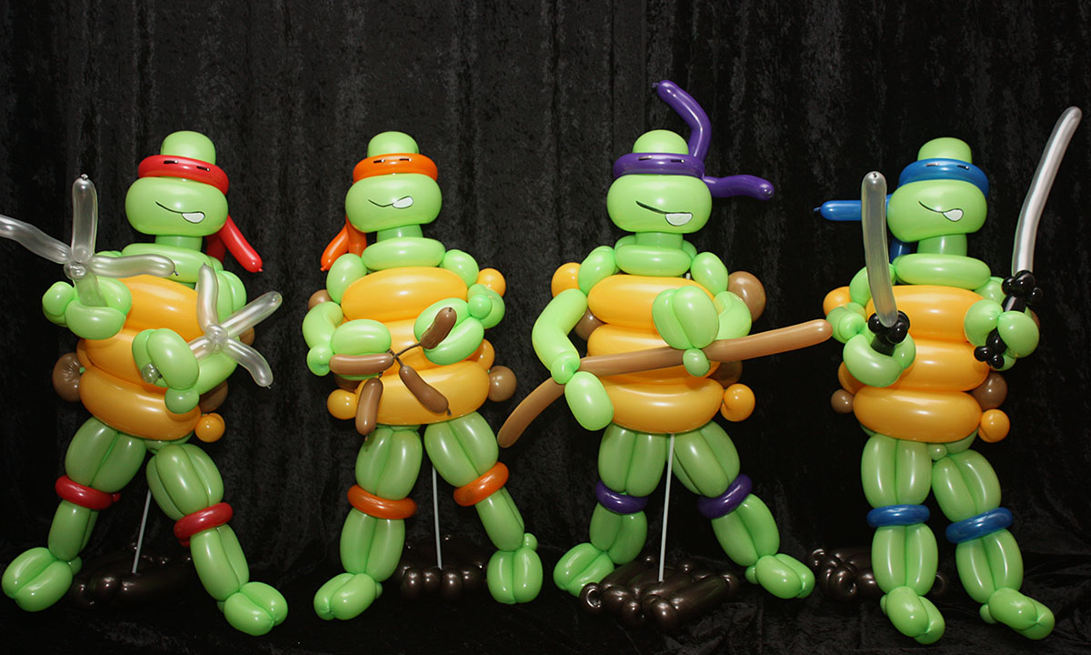 Superhero Turtles Balloon Delivery, by Balloonopolis, South Carolina