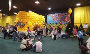 Balloon Bees display, State Fair of SC, by Balloonopolis, Columbia, SC