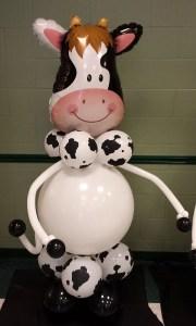 Custom Balloon Sculpture - Cow - Balloonopolis, Columbia, SC