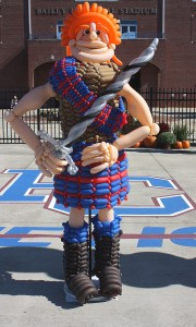 Mascot for Presbyterian College Balloon Greeter, by Balloonopolis, Columbia, SC - Balloon Greeters